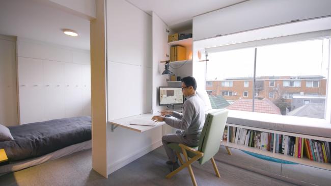 Home Office na Sala Compacta